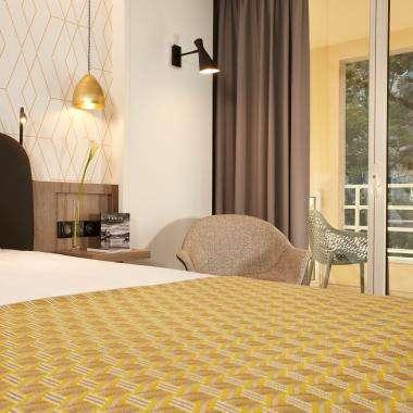 Room-supérieurbalcon-hotel-Auteuil-Tour Eiffel-paris